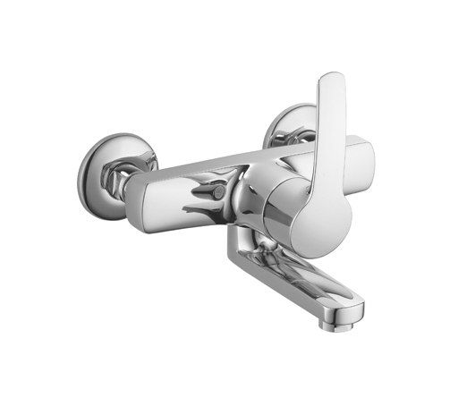 KWC VITA Lever mixer|Swivel spout 90° by KWC | Wash basin taps