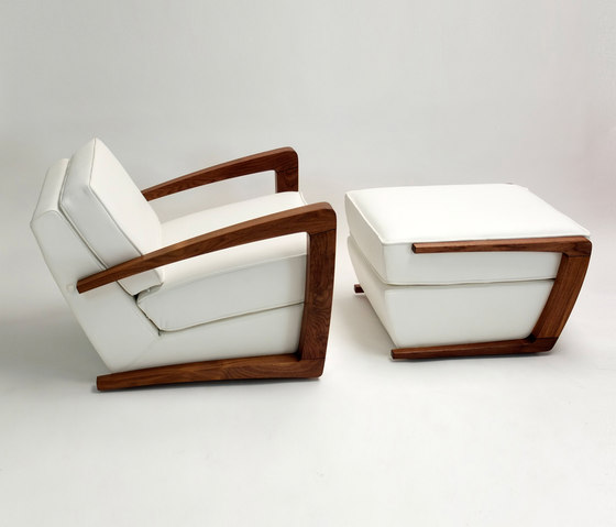 Kustom Armchair and Footstool by Bark | Armchairs