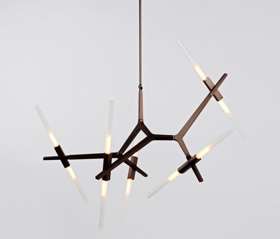 Agnes Chandelier - 10 Lights  (Bronze) by Roll & Hill | Suspended lights