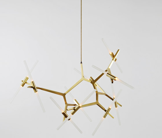 Agnes Chandelier - 20 Lights (Brass) by Roll & Hill | Suspended lights