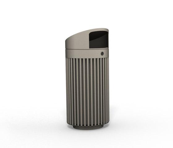 Litter bin 110 with roof top by BENKERT-BAENKE   Waste baskets