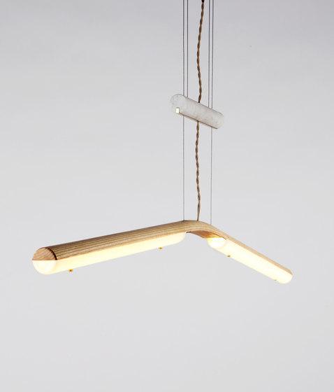 Counterweight Pendant (Ash) di Roll & Hill   Lampade sospensione