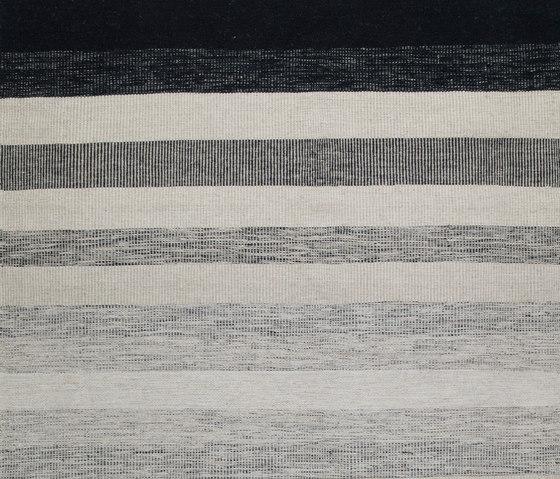 Tofta wave white black by Kateha | Rugs