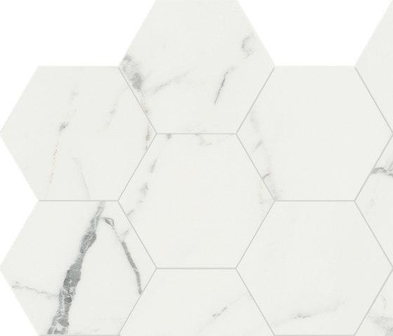 Anima Dekore Esagono | Statuario Venato von Caesar | Keramik Fliesen