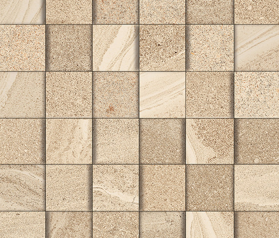 Lake sand mosaic 3D by Ceramiche Supergres   Ceramic mosaics