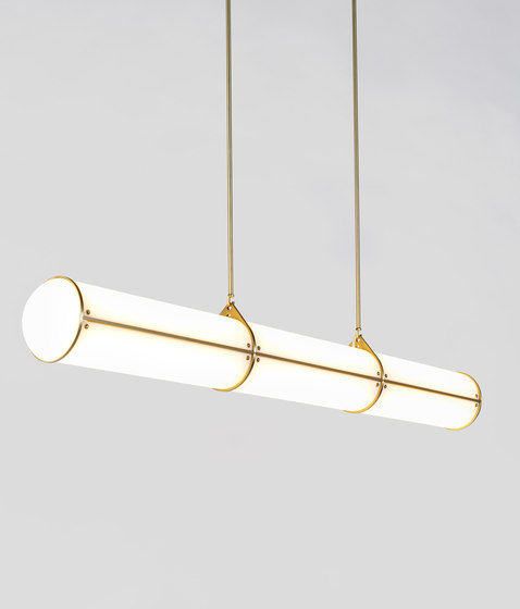 Endless Straight - 3 Units (Brushed brass) di Roll & Hill | Lampade sospensione