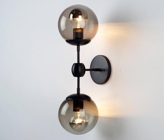 Modo Sconce - 2 Globes (Black/Smoke) de Roll & Hill | Appliques murales