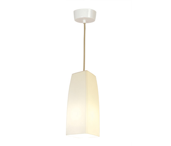 Square Small Pendant Light, White Gloss von Original BTC | Allgemeinbeleuchtung