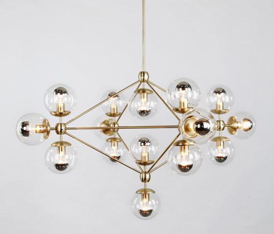 Modo chandelier 15 globes brass clear de Roll & Hill | Iluminación general