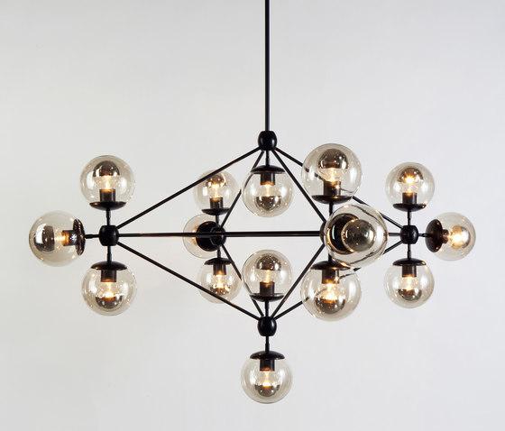 Modo chandelier 15 globes black smoke de Roll & Hill | Éclairage général
