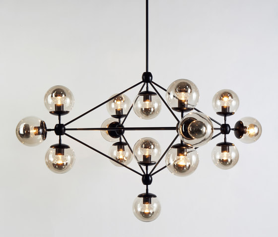 Modo chandelier 15 globes black smoke de Roll & Hill | Suspensions