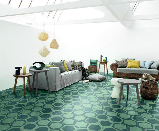 Navone On/Off Teal di Bisazza | Piastrelle cemento