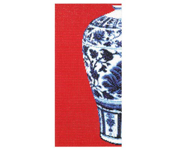 Blue Vases de Bisazza | Mosaïques verre