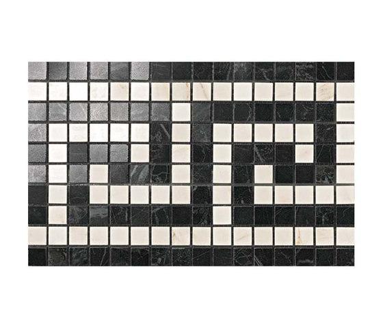 Marvel PRO Noir/Cremo Greca Mosaico shiny de Atlas Concorde | Mosaïques céramique