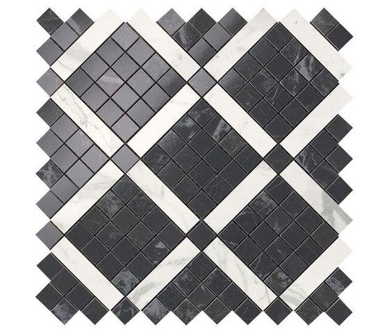 Marvel PRO Noir St. Laurent Mix Diagonal Mosaic shiny de Atlas Concorde | Mosaïques céramique