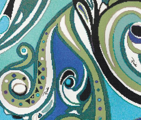Emilio Pucci Pizzo Blue di Bisazza | Mosaici vetro