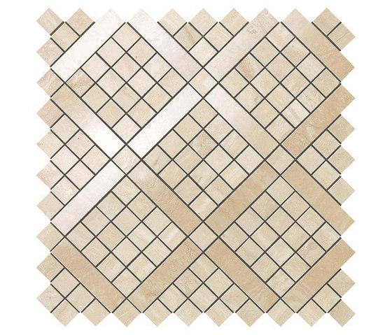 Marvel PRO Travertino Alabastrino Diagonal Mosaic shiny de Atlas Concorde   Mosaicos de cerámica