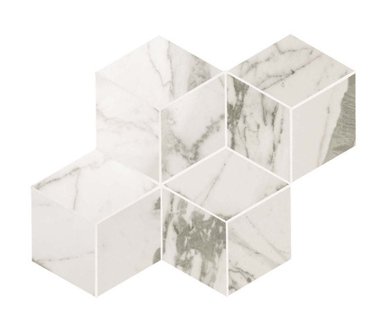 Marvel PRO Statuario Select Mosaico Esagono shiny de Atlas Concorde | Mosaicos de cerámica