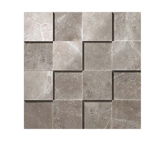Marvel PRO Grey Fleury Mosaico 3D shiny by Atlas Concorde | Ceramic mosaics