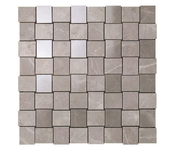 Marvel PRO Grey Fleury Net Mosaic shiny de Atlas Concorde | Mosaicos de cerámica