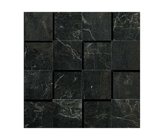 Marvel PRO Noir St. Laurent Mosaico 3D by Atlas Concorde | Ceramic mosaics