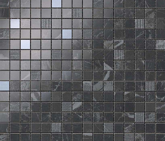 Marvel PRO Noir St. Laurent Mosaico de Atlas Concorde | Mosaicos de cerámica