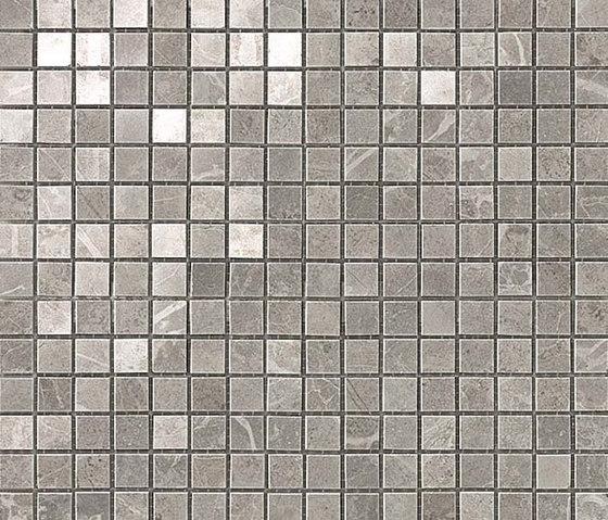 Marvel PRO Grey Fleury Mosaico shiny de Atlas Concorde | Mosaicos de cerámica