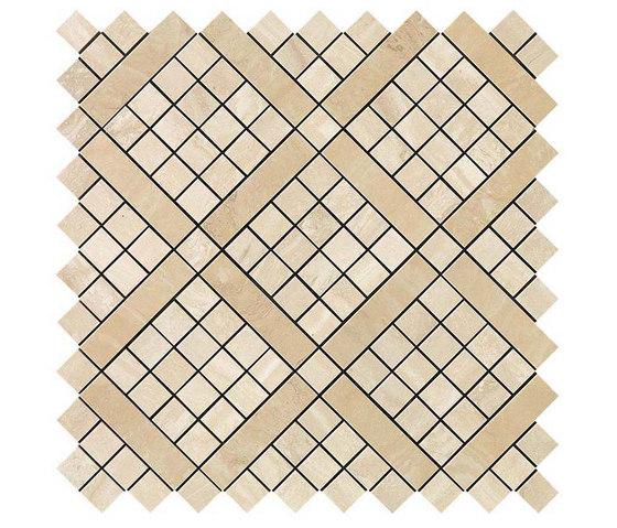 Marvel PRO Travertino Alabastrino Diagonal Mosaic de Atlas Concorde | Mosaicos de cerámica