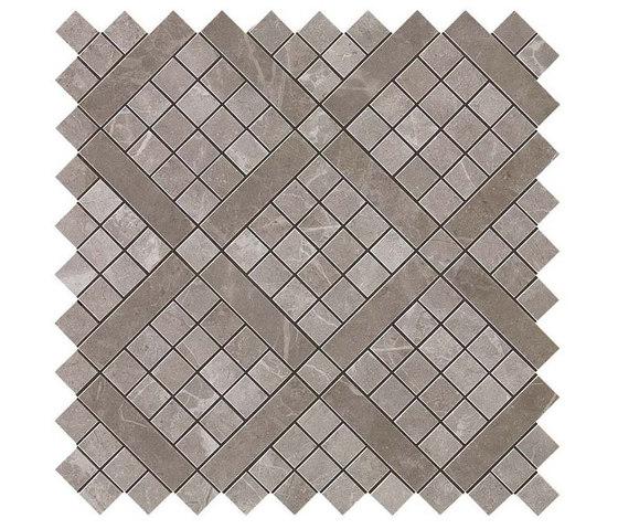 Marvel PRO Grey Fleury Diagonal Mosaic de Atlas Concorde   Mosaicos de cerámica