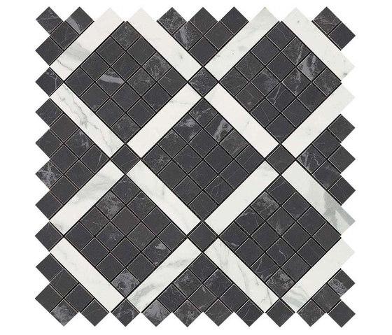 Marvel PRO Noir St. Laurent Mix Diagonal Mosaic de Atlas Concorde | Mosaicos de cerámica