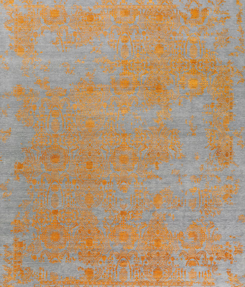 Inspirations T3 grey & orange by THIBAULT VAN RENNE | Rugs