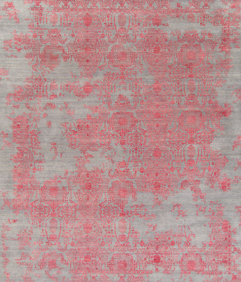 Inspirations T3 grey & red by THIBAULT VAN RENNE | Rugs