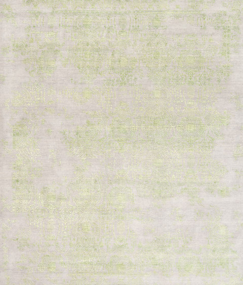 Inspirations T3 grey & lime green by THIBAULT VAN RENNE | Rugs