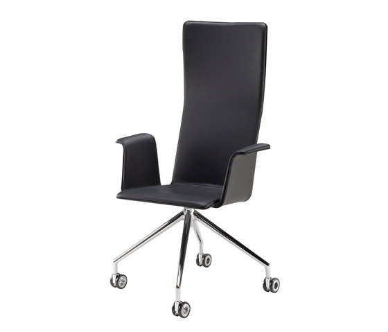 Duo | conference chair with armrests, high de Isku | Sillas