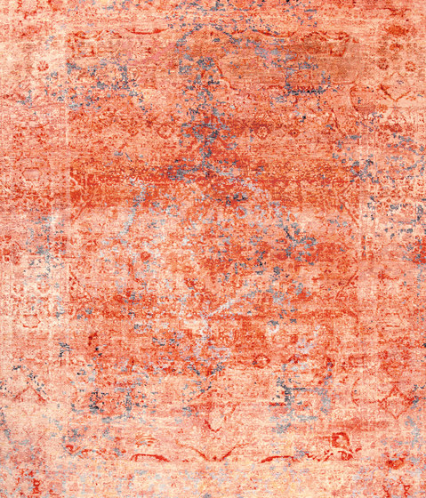 Kashan Revived red & silver de THIBAULT VAN RENNE | Alfombras / Alfombras de diseño