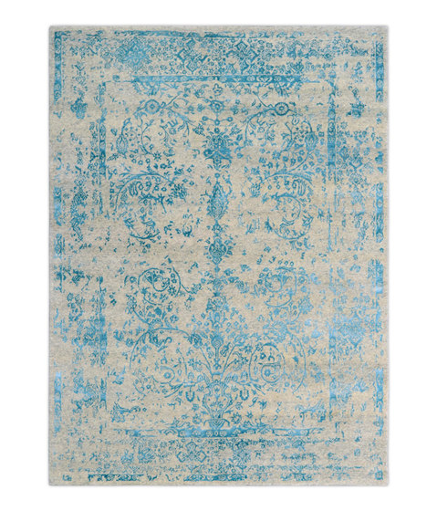 Kashmir Blazed aqua blue 4739 by THIBAULT VAN RENNE | Rugs