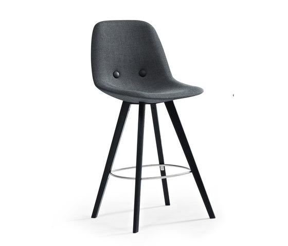 Eyes Wood EJ-2-B79-W by Erik Jørgensen | Bar stools