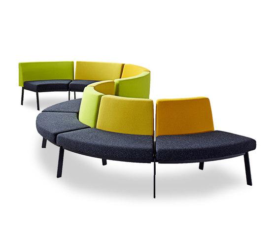 System furniture for waiting roomsEJ 2100 de Erik Jørgensen | Bancos