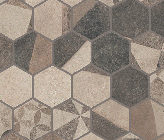 Terra Deco Beige Esagono Mosaico by Fap Ceramiche   Ceramic mosaics