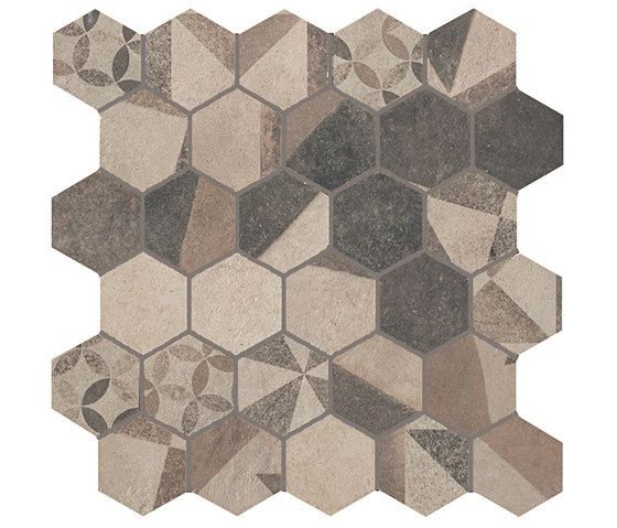 Terra Deco Beige Esagono Mosaico by Fap Ceramiche | Ceramic mosaics