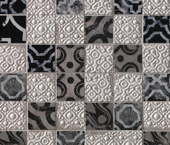 Creta Maiolica Grey Mosaico de Fap Ceramiche | Mosaïques céramique