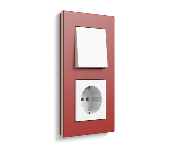 Esprit linoleum-plywood | Switch range di Gira | interuttori pulsante