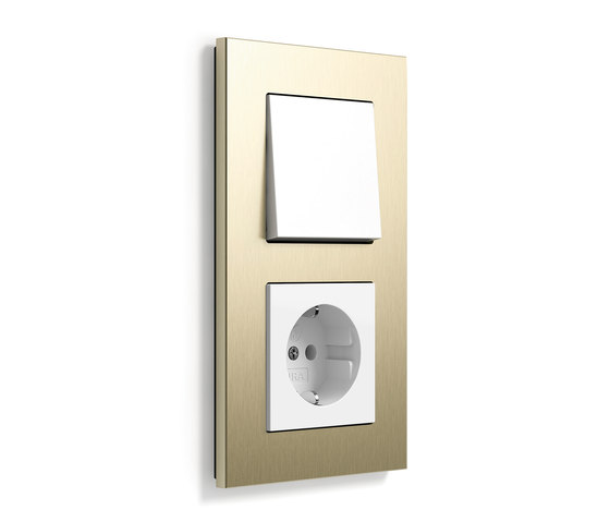 Esprit aluminium bright gold | Switch range by Gira | Push-button switches