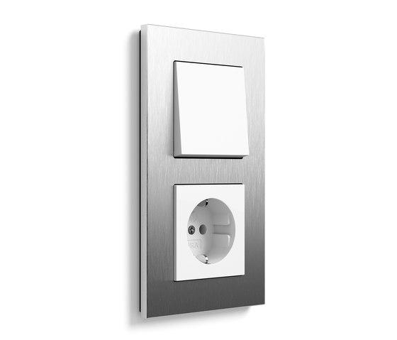 Esprit stainless steel   Switch range di Gira   interuttori pulsante
