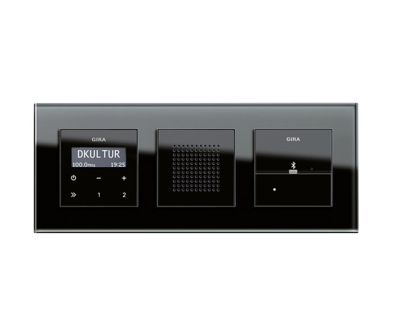 RDS flush-mounted radio and Docking station | Esprit by Gira | Radio systems