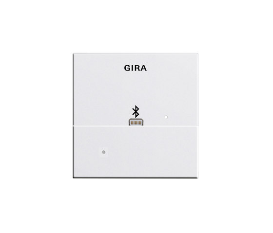 Docking station Top Unit for Apple Lightning | System 55 by Gira | Smart phone / Tablet docking stations