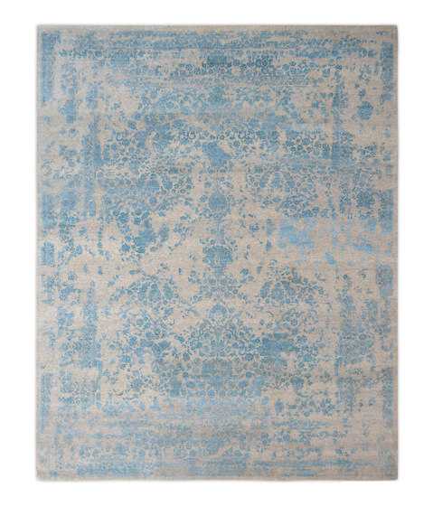 Kashmir Blazed Aqua blue 4808 by THIBAULT VAN RENNE | Rugs