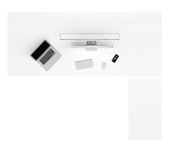 PRAEFECTUS Chef-Schreibtisch mit Sideboard von Rechteck | Einzeltische