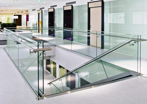 LK60 glass railings by Steelpro | Stair railings