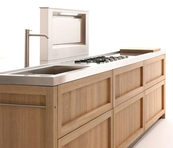 Legno vivo cucina cucine a isola ged arredamenti srl - Cucina isola legno ...